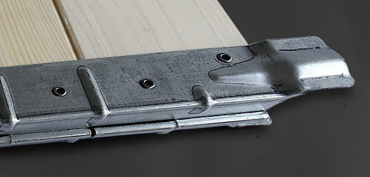 Hinges for collars 1,25 x 245, Hinges 1,25 x 245 for collars