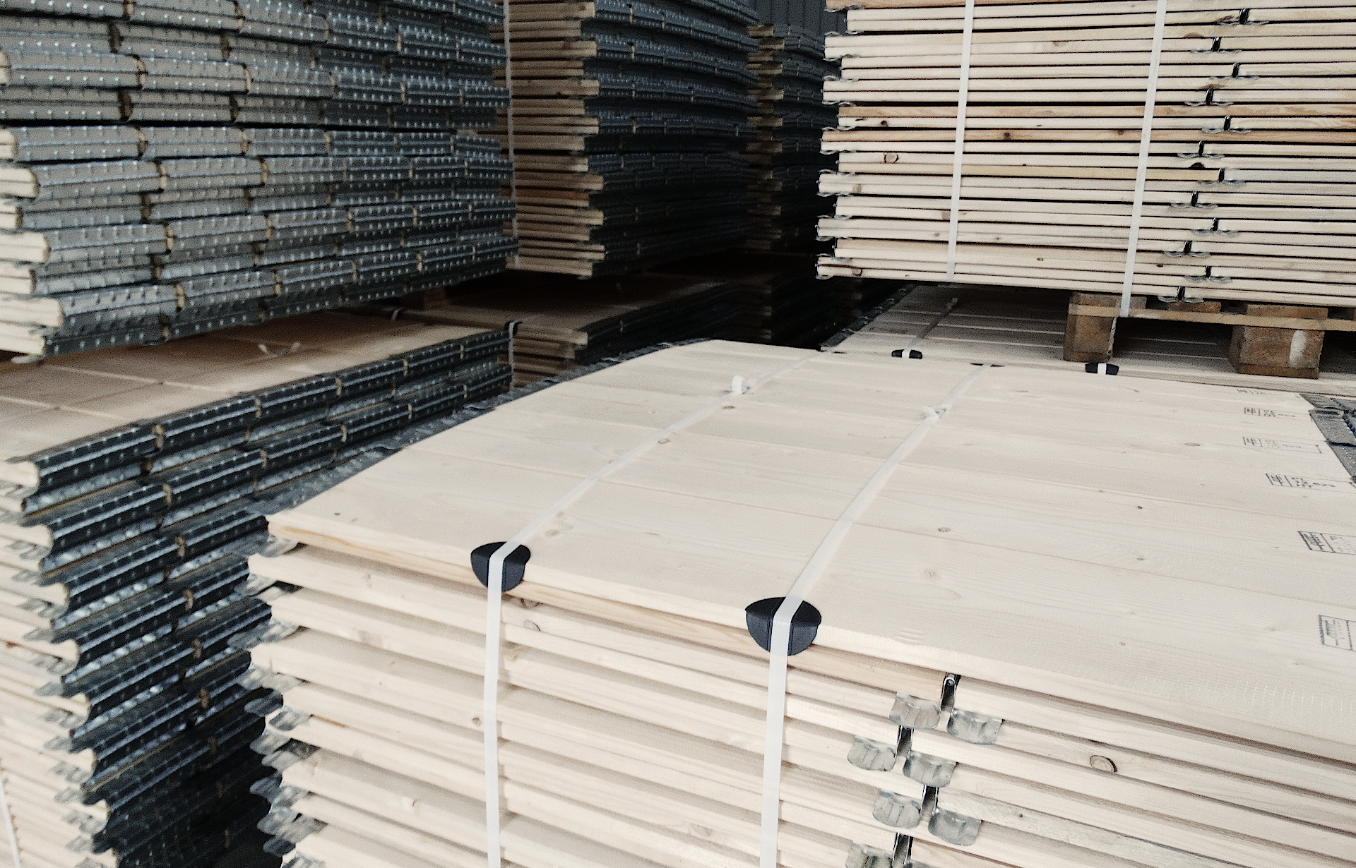 Production department of wooden collars for pallets